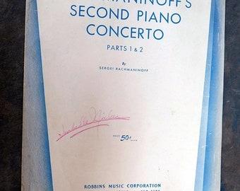 rachmaninoff second piano concerto Parts 1 & 2 sheet music