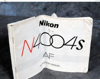 Nikon Camera N4004s AF Manual Guide Genuine