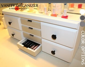 Attractive Makeup Organizer, Vanity Organizer, Makeup Brushes, Bathroom Organizer,  Nail Polish Organizer,