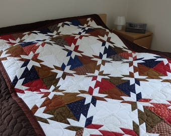 Patchwork Quilts, Patchwork Blanket, Cotton Quilt, Hand made quilt, Hand Quilted, Twin bed quilt