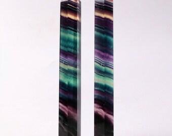Colorful rainbow fluoride quartz crystal point healing