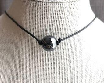 Hematite bead choker