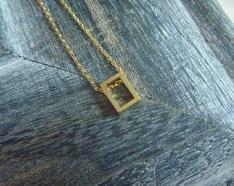 Necklace geometric rectangle