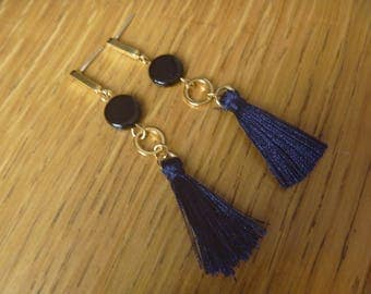tassel and black earrings