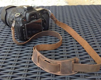 Wide Leather Camera Strap Leather Strap Canon Camera Strap DSLR Camera Strap Personalized Camera