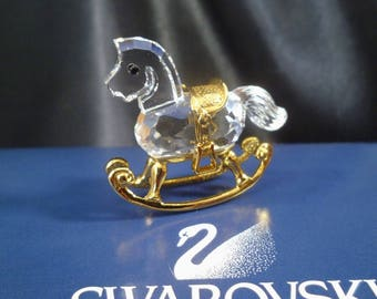 SWAROVSKI Crystal Memories Rocking Horse Swarovski Ornament Crystal Ornament Swarovski Memories Rocking Horse Vintage Crystal Rocking Horse