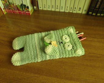 Knitting pencil case Cat