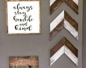 Wooden Chevron Arrows. Wooden Arrows. Farmhouse. Farmhouse Decor. Wall Decor