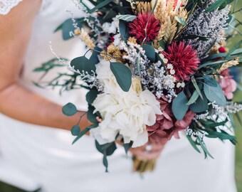 Ramo de novia de flores preservadas XXL - Extra Large preserved flowers wedding bouquet