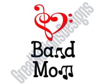 Band Mom SVG - HTV - Vinyl Cutting Graphic Art