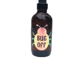Bug Off Label - Bug Spray - Insect Repellent Label - Essential Oil Label