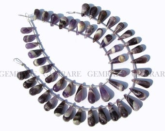 Drops Smooth beads In Amethyst Chevron Beads, Quality A+, 5.50x10.50 to 6.50x16.50 mm, 24 Pieces, 18 cm, AMETH-053/1, Semiprecious Stone