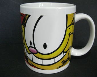 Garfield Coffee Mug, Garfield the Cat Mug, Jim Davis Comic Strip Mug