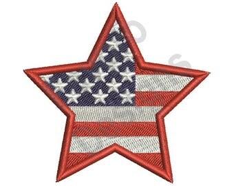 American Star - Machine Embroidery Design
