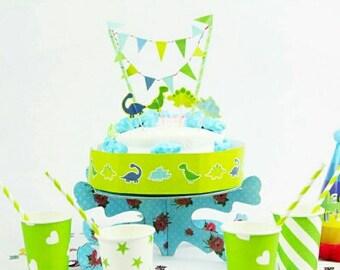 Dinosaur Cake Topper, Dinosaur Party, Dinosaur Decoration, DIY Dinosaur Cake Decorating Kit