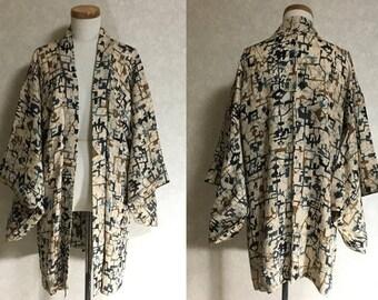 Japanese.old. kimono.free shipping.haori.coat.098