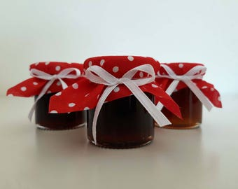 FREE SHIPPING! - 50 pcs random selection of Greek jams wedding gift favours - Add your customised message!