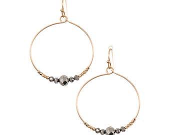 Handmade Mini Hoop Beaded Earrings