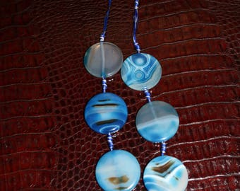 bead blue necklace