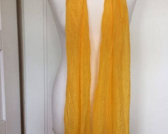 A 100% dyed Ponge silk scarf. Handpainted Silk Scarf.