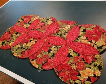 """Christmas Table Runner and Topper - Runners are 28"""" x 15 1/2   Topper is 15 1/2"""" x 15 1/2"""""""