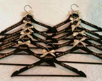 Set of 10 Personalized Wedding Hangers, Bridesmaid Hanger, Wedding Hanger, Bride Hanger, Bridesmaid Gift, Custom Wedding Hangers