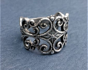 Sterling Silver Fillagree Ring