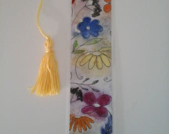 Painted watercolor painting - laminated bookmarks