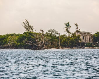 Paradise in Belize, 5x7 Fine Art Matte Print, Island Photography, Nautical Decor