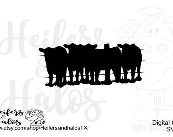Fenced herd svg, pdf, png, eps, dxf cut file for cricut and silhouette - USE for t-shirts, decals, yeti cups, ranch, western, farm, country
