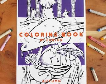 Coloringbook autumn