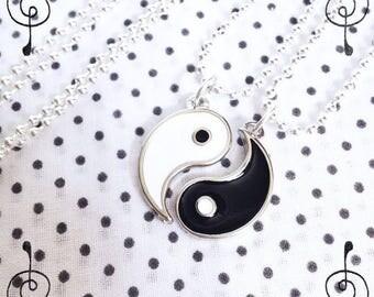 Yin Yang Necklace Cute Necklace White Black Dark Light Vintage Taoism Symbol