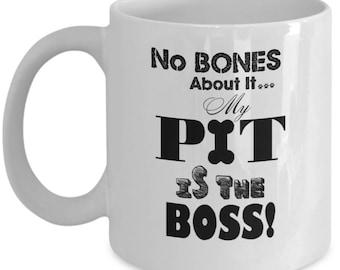 Funny Pitbull Lover Gift Coffee Mug Tea Cup, Pitbull Stuff Gifts for Dog Mom-Dad