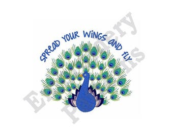 Spread Your Wings Of Freedom - Machine Embroidery Design