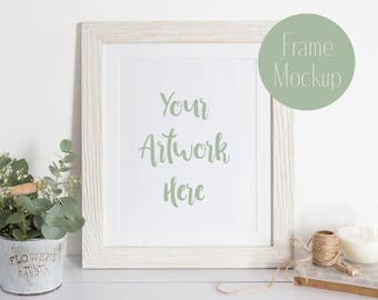 Frame Mockup Styled stock photo - Neutral colours