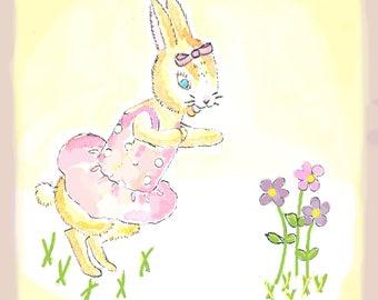Girl Bunny Pink