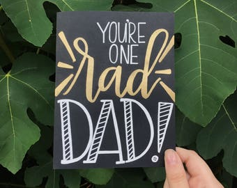 Rad Dad Father's Day Card | Father's Day Card | Happy Father's Day | Custom Card