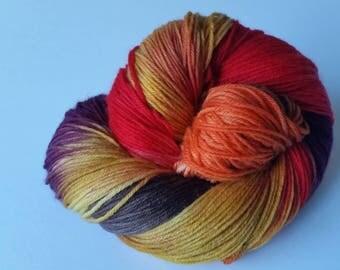 Smaug Town sock base 75 Merino 25 Nylon Sock yarn 100g