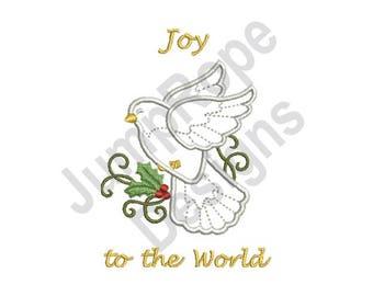 Joy To World - Machine Embroidery Design