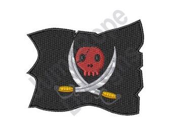 Pirate Flag - Machine Embroidery Design
