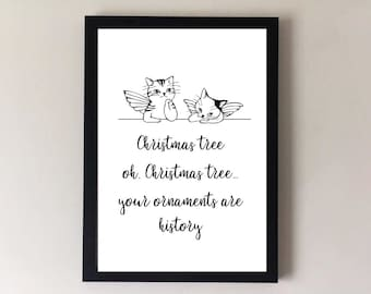 Cat lover gift, cat gifts, gifts for her, gifts for mum, gifts for mom, gifts for him, family gifts, cat print, gifts for cats, cat love