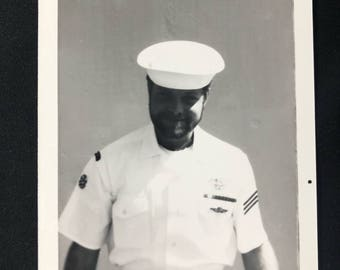 1970s Navy SEAL in Dress Whites Photo