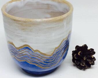outerdoor style tea cup,mountain contour line