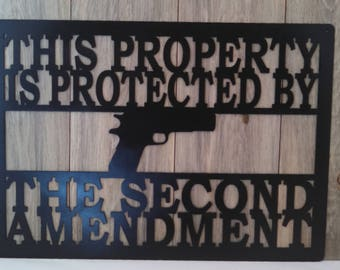 Second Amendment sign, gun enthusiast