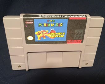 Super Mario World Bowser's Revenge SNES Game