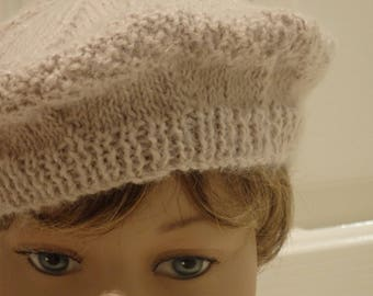 Grey Knitted Beret