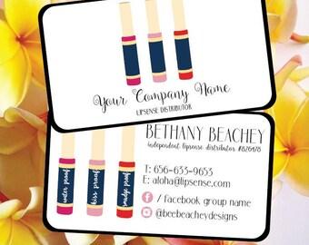 Lipsense, Lipsense Business Card, Lipsense Card, Lipsense Business, Senegence, Lipsense Party, Lipsense Printable, Lipsense Distributor