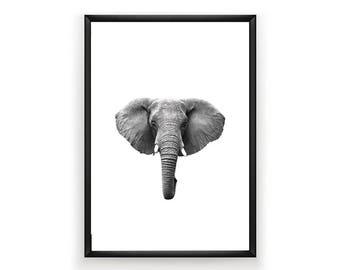 Elephant Print, Nursery Wall Art, Woodland Nursery Decor, Animal Wall Art, Elephant Print Wall Art, Animal Nursery Print, Woodland Wall Art,
