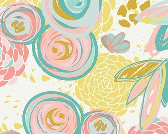 Art Gallery Fabrics -Reverie Fusion- Sprayed Blooms Reverie- 100% Cotton