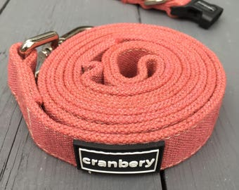 Natural Hemp Dog Lead. Organic eco friendly Blush Pink